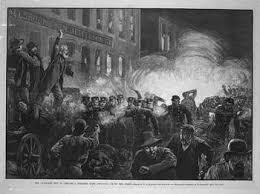 Un momento della rivolta di Haymarket Square